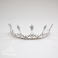 Серебристая корона для образа принцессы для девочки