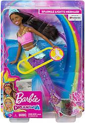 Уценка, повреждения коробки!КуклаBarbie-русалка Подводное СияниеDreamtopia Sparkle Lights Mermaid