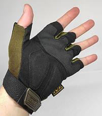 Тактические перчатки Mechanix (Беспалый). - Khaki M (m-pact1-olive), фото 3