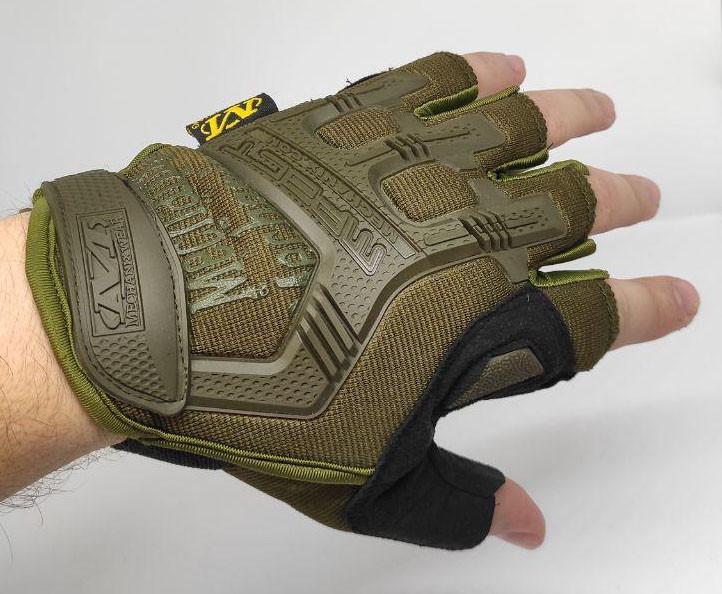 Тактические перчатки Mechanix (Беспалый). - Khaki M (m-pact1-olive)