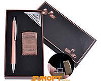 Деловой набор: ручка+зажигалка (Острое пламя). Высокое качество. Практичный и стильный подарок