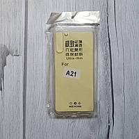 Samsung A21 прозрачный силиконовый чехол