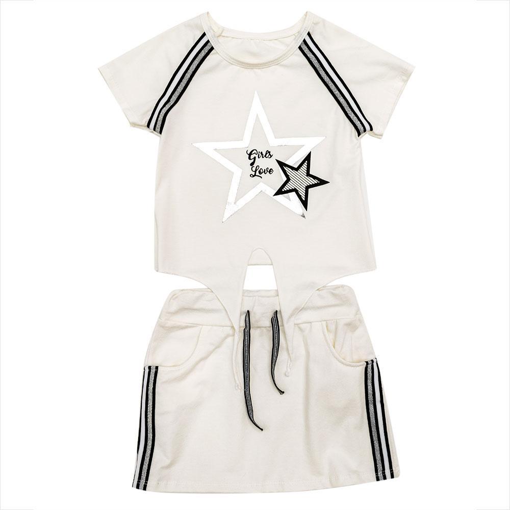 Комплект(юбка, блузка) для девочек Angelina 140  белый 1806-1891