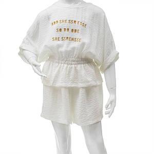 Комплект (блуза, шорты) для девочек Mimcar 120  белый 901299