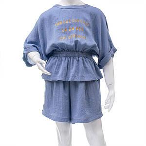 Комплект (блуза, шорты) для девочек Mimcar 120  голубой 901299