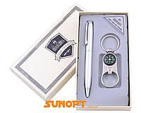 Деловой набор: Брелок (Открывалка, компас), Ручка. в подарочной упаковке