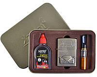 """Подарочный набор """"Ferrari Enzo"""" №4715-5 3в1: металлическая, кремниевая зажигалка, бензин, мундштук."""