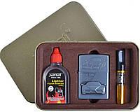 """Подарочный набор """"Ferrari Enzo"""" №4715-7 3в1: металлическая зажигалка, бензин, мундштук. Низкая цена"""