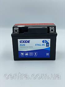 Мото аккумулятор EXIDE ETX4L-BS 3Ah