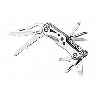 Нож туристический многофункциональный. Мультитул охотничий. Нож швейцарский. Качественная сталь., фото 1