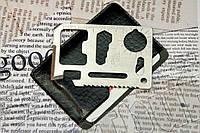Мультиинструмент-кредитная карта 11 в 1 в чехле из кожзама. 11 функций