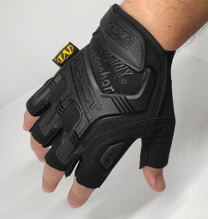 Тактические перчатки Mechanix (Беспалый). -Black (m-pact1-black-L)