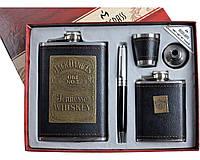 """Подарочный набор """"Moongrass"""" 5в1 Фляги, Ручка, Рюмка, Лейка. Высокое качество."""