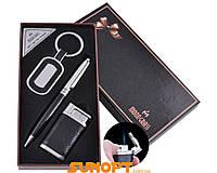 """Подарочный набор """"Moongrass"""": брелок, ручка, зажигалка (Острое пламя). Цвет  - black"""