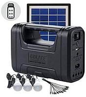 Портативная солнечная станция. Автономная солнечная станция GD Lite GD-8017 с солнечной панелью, для освещения, фото 1