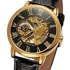 Часы Forsining Rich мужские механические часы скелетон, фото 4
