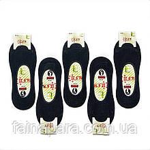 Мужские чёрные бамбуковые следы с силиконом на пятке Z&N Турция