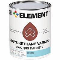 Лак для паркету ELEMENT POLYURETHANE VARNISH, напівматовий 0.6кг