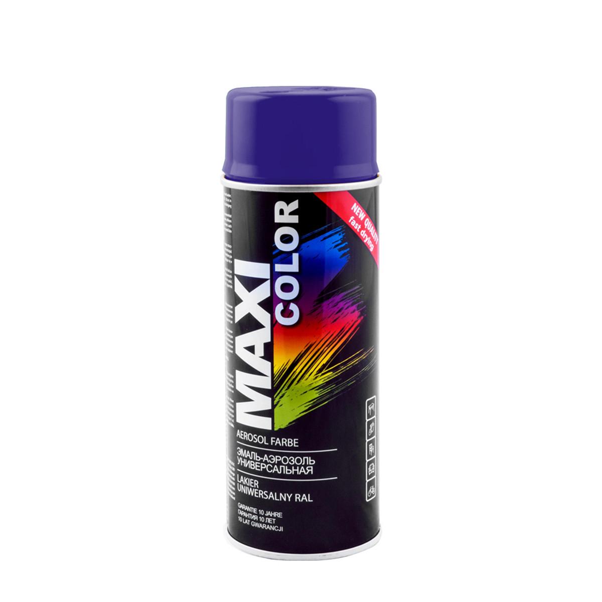 Эмаль аэрозольная универсальная декоративная Maxi Color Ral 5022 темно-синий 400 мл