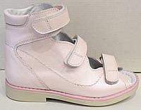 Туфли детские для девочки, кожаные, ортопедические на липучке от производителя модель СЛ52-11, фото 1