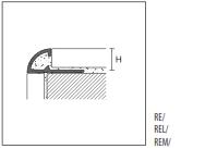 Профиль для защиты внешних углов PROTRIM REM/ Пвх под мрамор