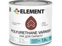 Лак для паркету ELEMENT POLYURETHANE VARNISH, напівматовий 1.8кг