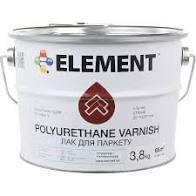 Лак для паркету ELEMENT POLYURETHANE VARNISH, напівматовий 3.8кг