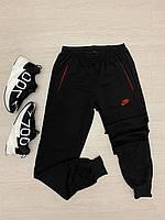 Мужские черные спортивные штаны на манжете Nike