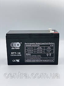 Гелевый аккумулятор OUTDO 12V7Ah (12V7Ah/20HR) OT 12-7