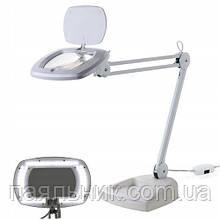 ZD142B Лампа лупа з підсвічуванням LED на підставці