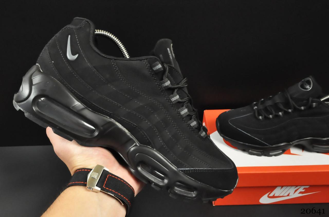 Кроссовки Nike Air Max 95 арт 20641 (мужские, черные, найк)