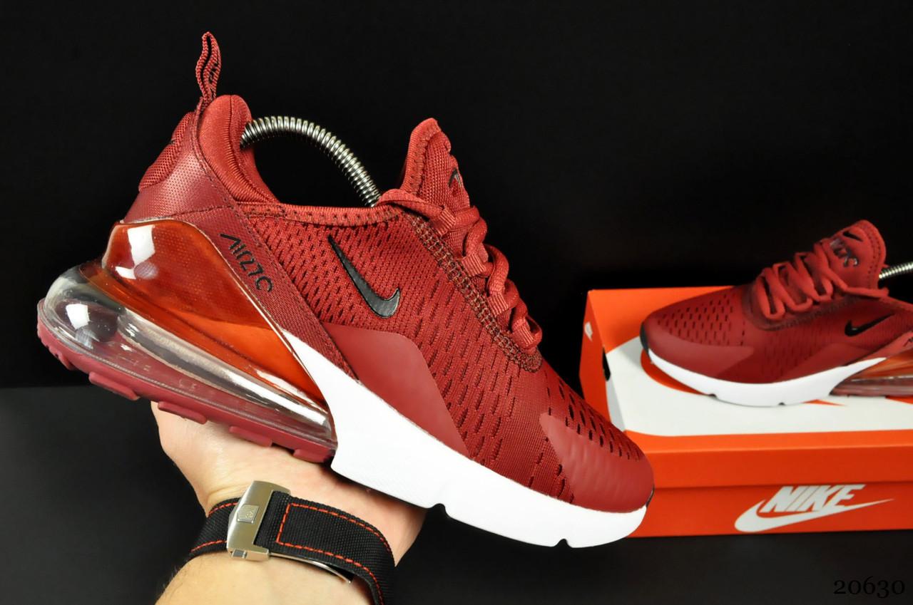 Кроссовки Nike Air Max 270 арт 20630 (женские, бордовые, найк)