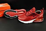 Кроссовки Nike Air Max 270 арт 20630 (женские, бордовые, найк), фото 3