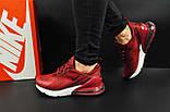 Кроссовки Nike Air Max 270 арт 20630 (женские, бордовые, найк), фото 6