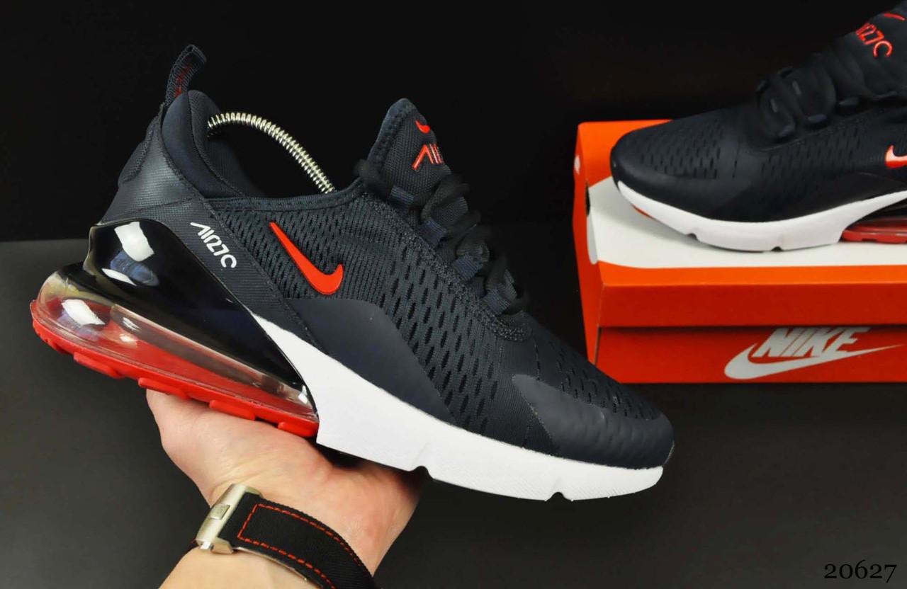 Кроссовки Nike Air Max 270 арт.20627 (мужские, синие, найк)