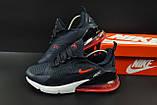 Кроссовки Nike Air Max 270 арт.20627 (мужские, синие, найк), фото 2