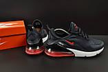 Кроссовки Nike Air Max 270 арт.20627 (мужские, синие, найк), фото 4