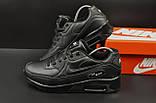 Кроссовки Nike Air Max 90 арт 20601 (мужские, черные, найк), фото 8