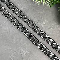 Цепочка декоративная, цвет темный никель, 13мм