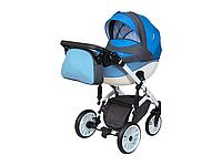 Детская коляска 2 в 1 Angelina Discovery Voyager синяя 50