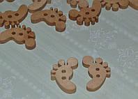 Пуговица деревянная нога ступня 22 мм