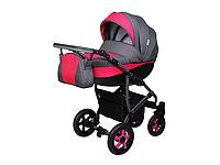 Детская коляска 2 в 1 Angelina Viper Smart графито-малиновая color 1