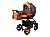 Детская коляска 2 в 1 Angelina Viper Smart оранжевая с коричневым color 3