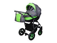 Детская коляска 2 в 1 Angelina Viper Smart серая с салатовым color 5