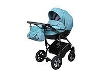 Детская коляска 2 в 1 Angelina Grand Mirage Silver бирюзовая color 13