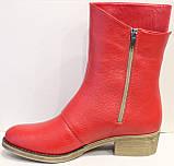 Сапожки женские кожаные красные от производителя модель РИ111М-1, фото 3
