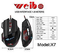 Игровая мышь Weibo X7 3600 Dpi 7D для компьютера/ноутбука, фото 1