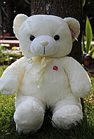 Мягкая плюшевая игрушка Кремовый Мишка с бантом 50*20 см