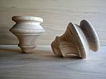 NM-40. Мебельные ножки и опоры деревянные для дивана  H.120 D.120, фото 2