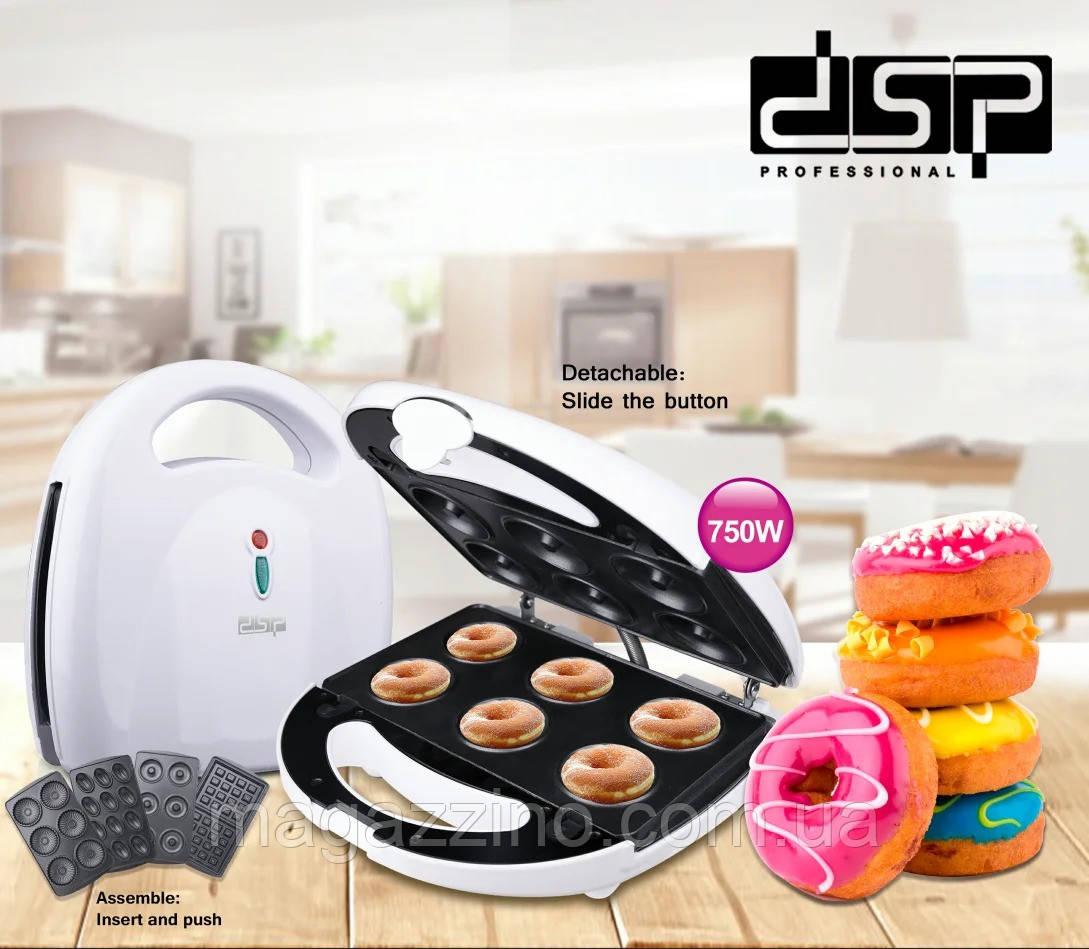 Аппарат для приготовления пончиков, печенья и вафель, DSP KC-1131 4в1, 750 Вт.